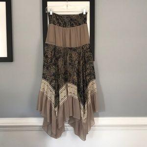 Lapis boho hippie prairie 60's style maxi skirt